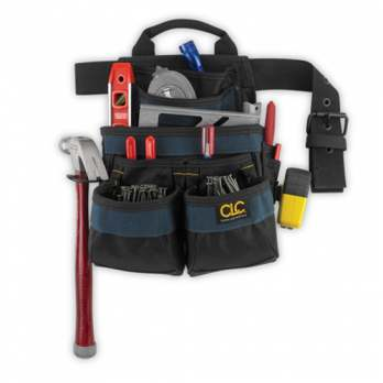 CUSTOM LEATHERCRAFT CLC 2836 11 Pocket Carpenter's Ballistic Nail & Tool Bag at Sears.com
