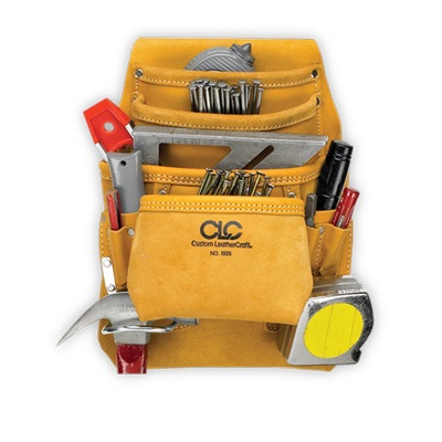 CUSTOM LEATHERCRAFT CLC I933 10 Pocket Top Grain Carpenter's Nail & Tool Bag at Sears.com