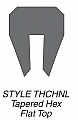 Kuriyama THCHNL-06X200 Tapered Hex-Flat Top Channel Rubber Strip, Channel Size(Inches): 3/8""