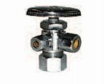 "Legend Valve 114-406 1/2"" Pex X 3/8"" X 3/8"" T-587 Multi-Turn Dual Outlet Valve"
