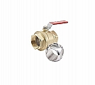 "Legend Valve 101-015 1"" T-1004 Full Port Ball Valve, Cubic Ball"