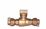 """Legend Valve 314-218 2"""" T-5300 Pack Joint x Pack Joint Curb Stop"""