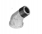 "Legend Valve 352-061C 1/4"" Galvanized 45 Deg Street Elbow"