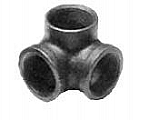 "Legend Valve 350-054 3/4"" Black Side Outlet Elbow"
