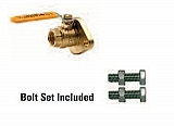 "Legend Valve 101-075 1"" T-1002FLG IPS X FLANGE, Isolation Ball Valve, Brass"